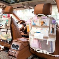 Wholesale waterproof car storage bag resale online - Cartoon Waterproof Universal Baby Stroller Bag Organizer Baby Car Hanging Basket Storage Stroller Accessories