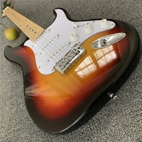 Wholesale custom guitar pickups resale online - Factory custom hot sale electric guitar with SSS pickups red tortoise pickguard chrome hardware can be customized