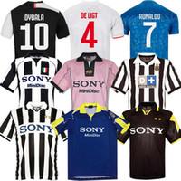 futbol vintage al por mayor-Nuevo top 95 96 97 98 99 00 Juventus Retro zidane 19 20 Ronaldo camiseta de fútbol 1997 1998 Juventus Vintage camisetas de fútbol 97 98 camiseta de fútbol