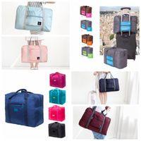 Wholesale foldable women bags resale online - 13styles Travel Bag Journey Women Folding Bag Unisex Men Luggage Travel Handbags Duffle Portable Foldable Baggage storage bag FFA1854