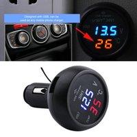 12v voltmeter für auto großhandel-Neue 3 in 1 Digital LED Auto Voltmeter Thermometer Auto auto USB Ladegerät 12 V / 24 V Temperaturmesser Voltmeter Zigarettenanzünder Ladegeräte