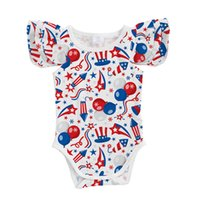 Wholesale patriotic clothes for sale - Group buy New hot sale patriotic holiday explosions children s clothing Xia Fei sleeve romper baby comfortable prints