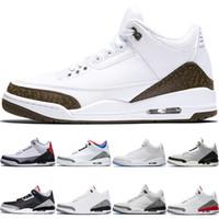 astar ayakkabıları basketbol toptan satış-Nike Air Jordan 3 Mocha Erkekler Basketbol Ayakkabıları Klorofil Tinker JTH NRG Ücretsiz Atış Hattı Katrina Beyaz Siyah Çimento Spor Tasarımcısı Eğitmen Sneaker Boyutu