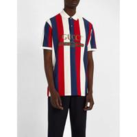 Wholesale new print mens polo shirt resale online - Mens Polo T Shirt Men Polos New Arrival Stripe Color Casual Mens Polo Fashion Men Summer T Shirt Polos Size S XL