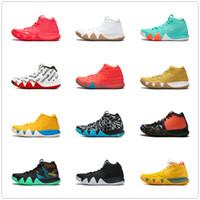 charms baskets achat en gros de-Kyrie IV Vert Porte-Bonheurs Mens 2018 Toutes Nouvelles Chaussures de Basketball à vendre Irving 4 Baskets D'entraînement Sportif En Gros Drop Ship