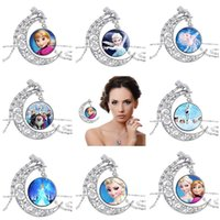 Wholesale frozen jewelry for sale - Group buy Moon Time Gemstone Necklace Frozen Glass Pendant DJN181 mix order Pendant Necklaces jewelry