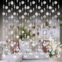cortinas de quarto de cristal venda por atacado-Crystal Glass Bead cortina Luxury Living room Bedroom Supplies Janela Decoração do casamento Porta Nova Moda Cortina ferramenta de jardim
