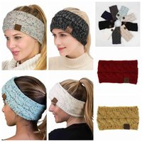 Wholesale fascinator party for sale - Group buy CC Knitted Headband Adults Woman Sport Winter Warm Beanies Hair Accessories Boho Yoga Headbands Fascinator Hat Ear Head Color FL210