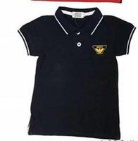 tops kız gömlek tasarımı toptan satış-Erkek bebek giysileri 4 renkler çocuklar t shirt tasarımcı giyim kız mektup tasarım marka Çocuk giyim boys için tops t-shirt