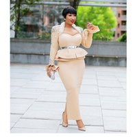 raumrock groihandel-Länge 150cm afrikanische Kleider für Frauen Dashiki Nail Bead afrikanische Kleidung Raum Schicht Kleid Rock Langarm-Afrika-Kleid