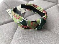 bandas de flor venda por atacado-2019 Designer de Nó Cruz Largura Difícil Headbands para Mulheres Gradiente Cor Logotipo Impresso Hoop Cabelo Flor Banda de Cabelo Meninas Idéias Do Presente