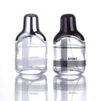 siyah parfüm şişeleri toptan satış-35 ml Siyah ve Gümüş Doldurulabilir Taşınabilir Parfüm Şişeleri Parfüm Alt şişeleme ve Gezgin Cam Kavanoz Boş Şişeler Kozmetik Sprey Şişesi