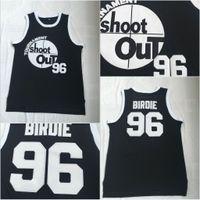 black out jersey achat en gros de-Tournoi de tournois Shoot Out # 96 Birdie Tupac Film Basketball Jersey 100% Cousu Noir S-3XL Expédition Rapide