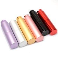 mini botellas de perfume gratis al por mayor-20ML Mini aluminio botella de perfume del aerosol vacío llenado de la botella de perfume del atomizador rotatorio envío