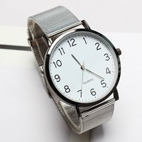 Wholesale watches strip for sale - Group buy Unisex Simple Business Fashion Steel Strip Quartz Wrist Watch Watch Men Fashion Sport Quartz Clock Mens Watches F30