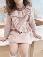 blusas de malha de lã de bebê venda por atacado-2019 Meninas Outono Inverno lã camisola de malha Baby Girl vestido Meninas Vestidos de festa e de casamento roupa do bebê da menina