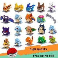 jouets des parents achat en gros de-LOZ DIAMOND BLOCKS Jouet Super Heroes Pikachu Dans 7.5 CM Box Jeux Parent-enfant Éducatif Bricolage Assemblage Briques Jouets 3D Puzzle Jouet poupée lol