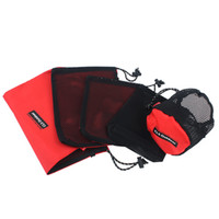 Wholesale travel accessories online - High Capacity Cosmetic Wash Net Bag Piece Suit Oxford Travel Wrap Set Camping Accessories Portable Fold Anti Wear gtI1