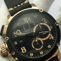 u datum uhr großhandel-50mm limitierte Auflage DIVER U 1001 VK Quarz Chronograph arbeiten Chrono Männer Stoppuhr Armbanduhr Italien Uhren u Boot