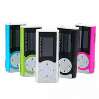 Wholesale 4gb mini mp3 player resale online - Mini Mp3 Player with LCD Screen built in speaker music Support GB GB GB GB GB TF Card MP3 Player