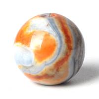 pulsera de piedra naranja al por mayor-Granos de Ágata naranja Piedra Cristal Redondo Grano Suelto 6/8 / 10mm Piedras Preciosas para la Oración Musulmana Rosario Pulsera Accesorios Fabricación de Joyas