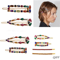 Wholesale frog hairs for sale - Group buy Bohemian Ethnic Colorful Faux Crystal Hair Clips Women Girls Alloy Frog Bobby Pins Imitation Pearl Jewelry Side Bangs Barrettes