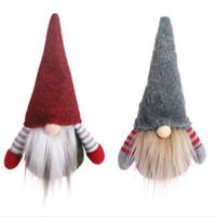 ingrosso vecchi alberi di natale-2020Christmas Faceless Gnome Babbo Albero di Natale Decorazioni d'attaccatura Ornamento Bambola Decorazione di natale bambola pendente regalo albero vecchio