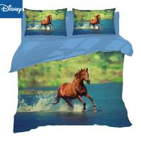 Wholesale animal horses bedding set 3d resale online - 3D Printing Horse Bed Linen Pillowcases Duvet Cover auqueen full twin size Bedding Set Flat Sheet hot sale