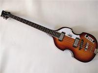 violinos grátis venda por atacado-Frete grátis Top Quality Hofner Icon Series Vintage Sunburst violino baixo guitarra elétrica 4 cordas baixo