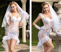 белые свадебные ремешки оптовых-Оптовая белая юбки тюль сексуальной вуаль венчания перчатка плеть кукла сексуального женское белье сексуального Babydoll costume85