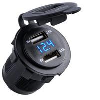 ingrosso caricatore dell'automobile del usb 4.2a-4.2 LED per presa accendisigari doppia presa per caricabatterie USB per auto
