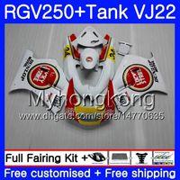 verkleidung 1989 großhandel-Karosserie + Tank Für SUZUKI VJ21 RGV250 88 89 90 91 92 93 307HM.3 RGV-250 Lucky Strike neu VJ22 RGV 250 1988 1989 1990 1992 1992 1993 Verkleidungssatz