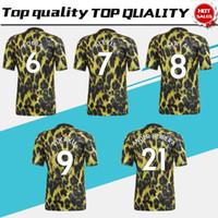 camisas de leopardo de los hombres al por mayor-Nuevo 2019 # 6 POGBA Edición limitada camiseta de fútbol # 10 RASHFORD 18/19 Camisetas de hombre Camiseta especial de fútbol con estampado de leopardo En venta S-4XL