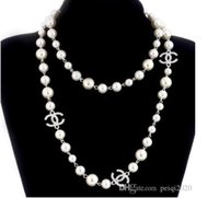 Wholesale snake fashion accessories for sale - Group buy Hot style fashion women pearl design sweater necklace rose gilt pearl jewelry necklace for women s best gift accessories