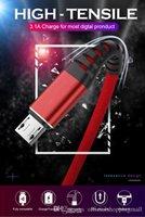 schnelles geflecht großhandel-Hochfestes Micro-USB-Kabel Nylon Geflochtenes Daten-Sync-Schnellladekabel Telefonkabel 1M 3A Schnellladekabel USB Typ C Schnellladekabel Für Samsung