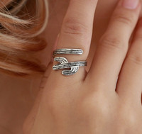 antike silberne offene ringe großhandel-Catus Womens Rings Open Neuheit Antik Gold Antik Silber Ton Schmuck Unendliche Ringe Geschenk Idee