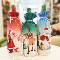 Wholesale wine bottle fabric covers for sale - Group buy Christmas Decoration Santa Claus Wine Bottle Cover Santa Claus Bottle Holder Bag Snowman Xmas Wine Bottle Decoration MMA2628