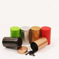 Wholesale tea storage tins resale online - 55 mm Tin Box Tea Coffee Sugar Nuts Jar Storage Boxes Metal Coins Candy Jewelry Case Organizer MMA2740