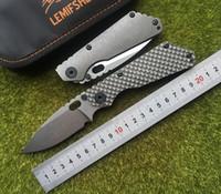 cuchillo de cobre titanio al por mayor-LEMIFSHE S SMF Cuchillo plegable Hoja D2 Mango de titanio Lavadora de cobre cocina al aire libre utilidad de caza Cuchillos Herramientas EDC