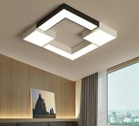 ingrosso led luci plafond-Piazza metallo Lampe Plafond Avize apparecchio di illuminazione 110V 220V moderna LED delle luci di soffitto di Soggiorno Camera da letto LLFA