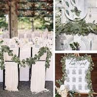 Wholesale arch decorations for sale - Group buy Artificial Eucalyptus Leaves Vine Fake Greenery Garland For Wedding Party Decoration Home Table Arch Decor m Faux Eucalyptus