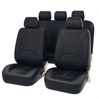 Wholesale waterproof neck cases for sale – best 9Pcs Luxury PU Leather Car Seat Covers Universal Auto Waterproof Dustproof Protector Seat Case for Vehicle Black Cover