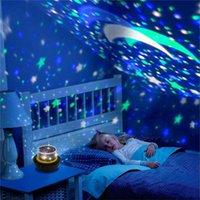 lámpara de tierra al por mayor-Luces de noche LED giratorias Lámpara de proyector regulable Starry Moon Sky Universe Earth Lámparas de mesa Día de San Valentín Luces de Navidad