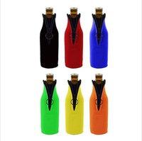 tapas de botellas de tela al por mayor-Paño de buceo Cubierta de la botella de vino Preservación del calor Botellas de cerveza Mangas Impermeable Artístico Conjunto de la botella de la cremallera Natación al aire libre 4sy k1