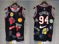 ingrosso pullover di basket di marca-19ss New Three Collocation 94 Basketball Vest Shirt Uomo Donna Breatheable Fashion Jersey Streetwear T-shirt da esterno