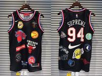 camisas do el venda por atacado-19ss New Three marca Colocação 94 Basketball Vest Shirt Das Mulheres Dos Homens Breatheable Moda Jersey Streetwear T-shirt Ao Ar Livre
