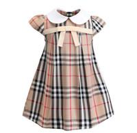 ingrosso vestito trading-Abbigliamento per bambini commercio estero 2019 nuova gonna per bambini estate bambino arco risvolto ragazze in cotone vestono una generazione
