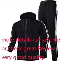logo moda giyim toptan satış-Erkekler Marka Tasarımcı Coats TopsPants İçin Sonbahar Tracksuits Logo Moda Hırka Erkekler Hoodies Sweatshirt Fermuarlı Erkek Giyim Takımları