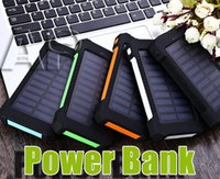 Wholesale new waterproof cell phones for sale - Group buy NEW Universal mAh Portable Solar Charger Banks Waterproof Solar Panel Battery Chargers with Ultra thin Highlight LED for all cell phone