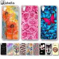 Wholesale black butterfly phone case online – custom Cheap Fitted Cases AKABEILA Silicone Phone Cases For HTC Desire w D G S Covers Skin Rose Flower Butterfly